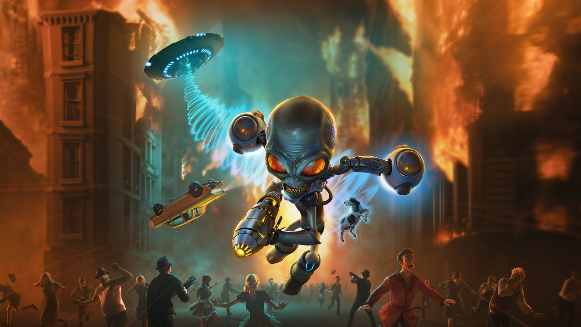 Destroy All Humans Artwork Alien