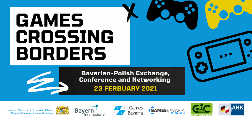 games crossing borders bavarian-polish exchange conference and networking februar 2021 flyer