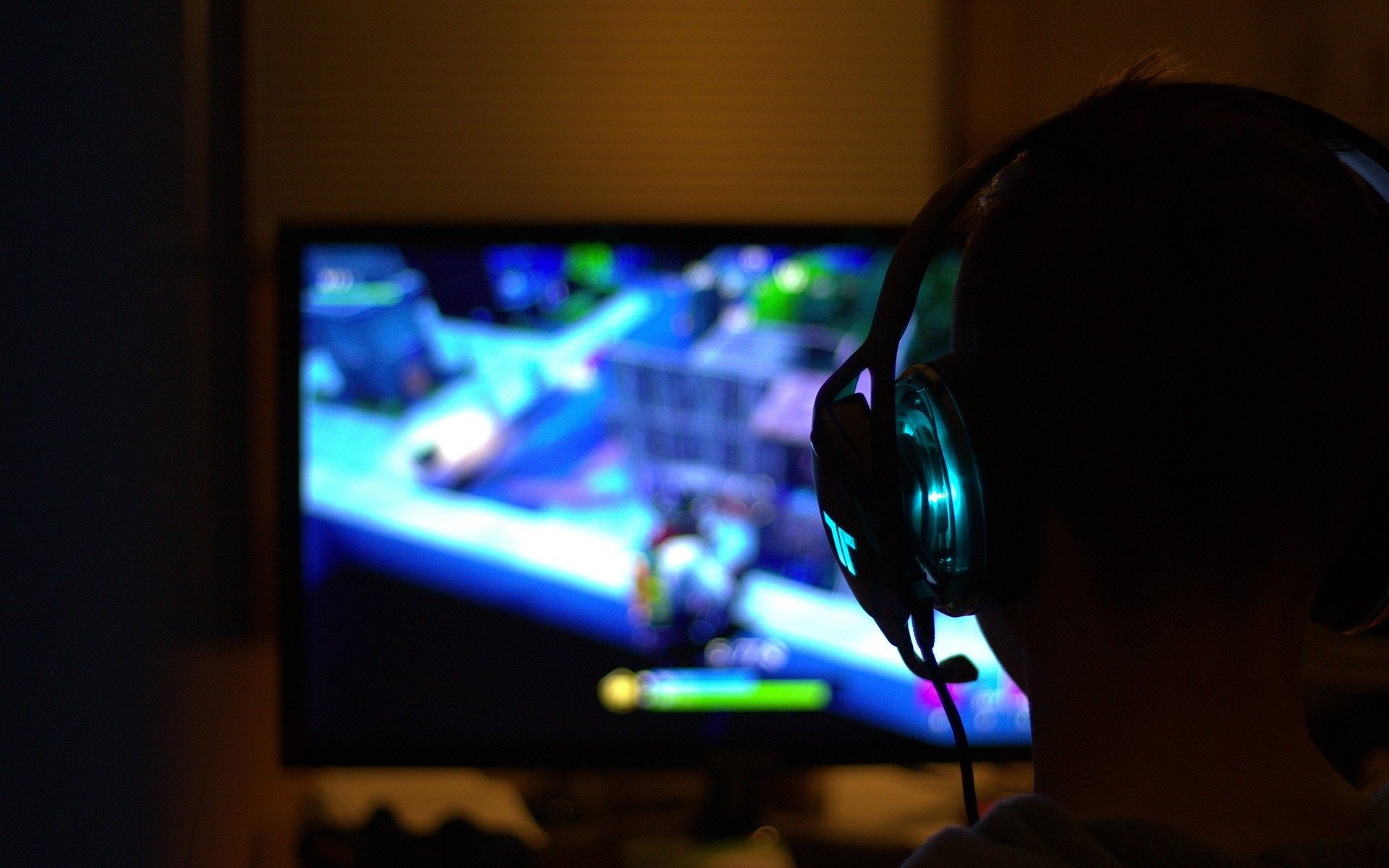 gamer fortnite headset bildschirm