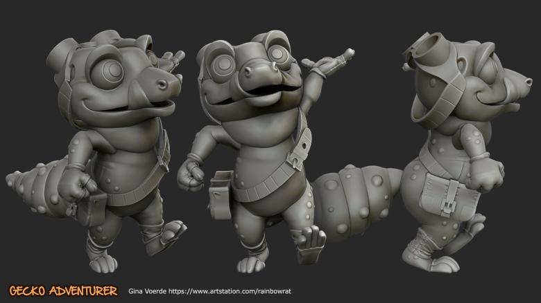 gina voerde gecko adventurer 3D Modell