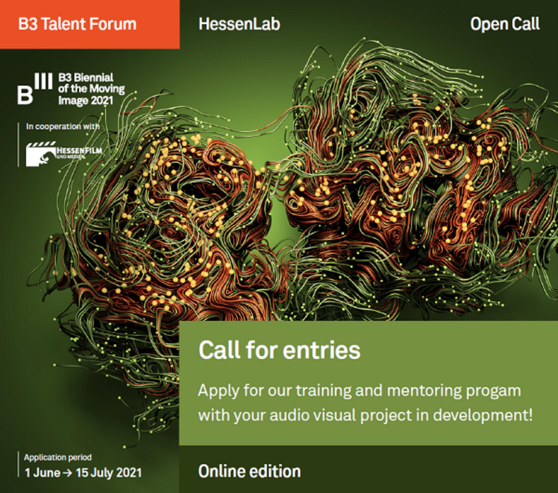 open call, call for entries, hessenlab, b3 talent forum, b3 biennale des bewegtenbildes hessenfilm